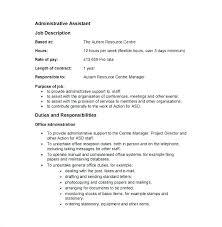 Office Assistant Duties On Resume Office Assistant Duties Resume Administrative Info