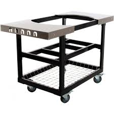 primo steel cart with stainless steel side tables for oval xl large bbq guys