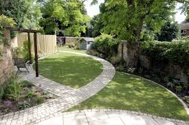 Small Picture Garden Ideas Natural Garden Design With Curved Brick Pattern