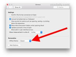 Microsoft Office Ppt Theme How To Change Microsoft Office Theme On Mac Osxdaily