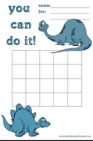Sticker Charts For Preschoolers Reward Charts For Kids Dinosaurs And Prehistoric Friends