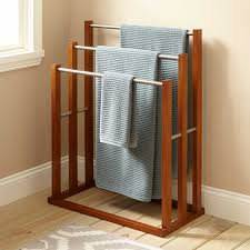 Towel Hanger Celine Teak Towel Hanger With 3 Tiers Bathroom