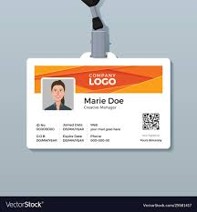 company id card templates corporate id card template with modern abstract