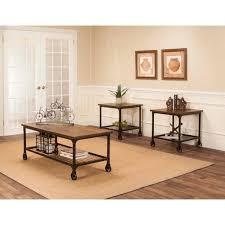 dark brown coffee table set medium size of rustic elm and black 3 piece