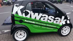 Smart Fortwo with a Kawasaki ZZR1400 Motorcycle Engine Engine Swap