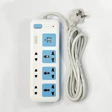 Ổ Cắm Điện USB Nanolight 6 lỗ cắm và 2 cổng USB PS-02
