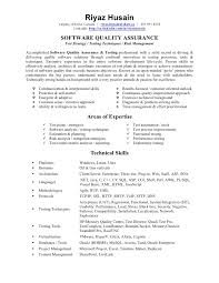 Test Analyst Cv Sample Resume Objective For Quality Assurance Qa