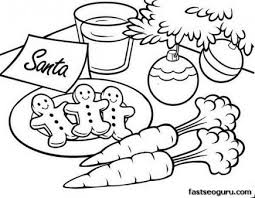 Small Picture Printable Christmas gingerbread cookies for santa coloring pages