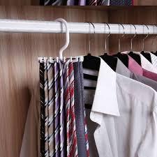 rotating tie rack organizer hanger closet organizer storage scarf rack holds 20 neck ties