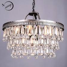 glass drops chandelier vintage big glass drops led crystal iron chandeliers pendants modern hanging lamp for