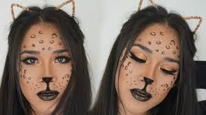 simple leopard makeup tutorial halloween 2016