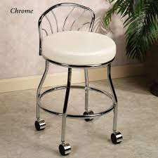Vanity stools with back Velvet Flare Back Vanity Chair Pinterest Flare Back Metallic Finish Vanity Chair With Casters Girls