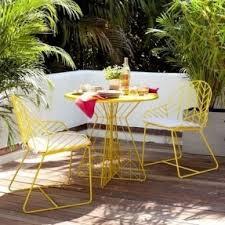 outdoor modern patio furniture modern outdoor. Mid Century Outdoor Furniture | West Elm Bend Bistro Mid-century Modern Chevron Yellow Patio