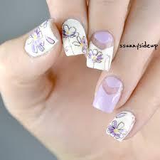 1 Sheet Cute Flower 3D Nail Art Stickers Light Purple Floral Nail ...
