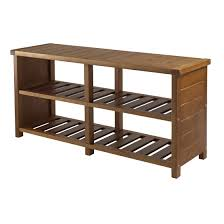 Entry benches shoe storage Hallway View Larger Amazoncom Amazoncom Winsome Keystone Shoe Bench Kitchen Dining