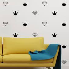 diamond crown wall decal set of 40