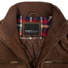 debenhams barneys jackets men big and tall dark tan leather harrington jacket