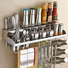 Wooden 304 Stainless Steel Wallmounted Kitchen Shelves Storage size70cm Noahseclecticcom 304 Stainless Steel Wallmounted Kitchen Shelves Storage size70cm