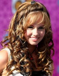 curly hairstyles for long straight hair