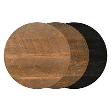 24 round urban distressed wood table top