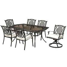 6 person patio dining sets patio dining furniture the home depot metal outdoor patio dining set