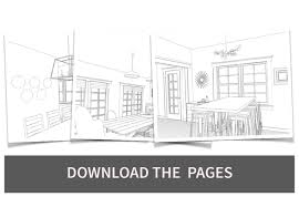 Living Room Coloring Printable Coloring Pages Rooms House Coloring Pages