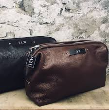 men s leather toiletry bag