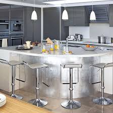 Stainless-steel kitchen island | Designer kitchen unit ideas | Kitchen |  PHOTO GALLERY |