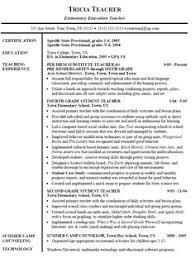 4th Grade Teacher Resume Physical Education Teacher Resume Radiovkm Tk