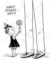 かわいい赤ちゃん女の子彼女の父親にロリポップを与えると面白い図をスケッチします幸せな父の日のグリー