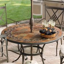 round outdoor dining table small