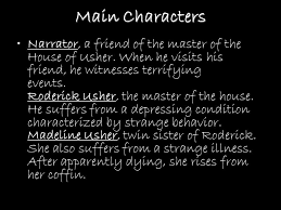 the fall of the house of usher rdquo edgar allan poe ppt 7 main characters