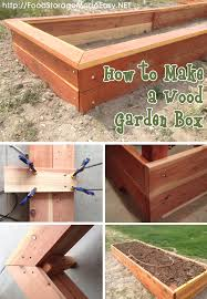 how to build a wood garden box food