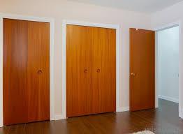 Closet doors and doors in room entrances are interior doors.