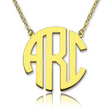 solid gold 18ct initial block monogram pendant necklace name my jewellery