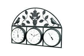 garden wall clock outdoor clocks opus garden indoor outdoor wall clock thermometer