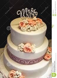 White Wedding Cake Stock Image Image Of Marriage Bakery 107837315