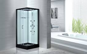 china free standing glass shower cubicles 900 x 900 sgs iso9001 certification supplier