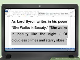 How to Quote Poetry in an Essay  with Pictures    wikiHow wikiHow Image titled Quote Poetry in an Essay Step