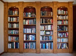 office bookcase with doors. 10 foot wide builtin bookshelves used as part of a conversion from formal living room to an officelibrary red oak with wipeon gel finish office bookcase doors i