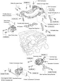 repair guides engine mechanical components intake manifold upper intake manifold intake air surge tank and related parts 4 0l 1gr fe engine