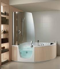 Impressing Corner Bathtub Shower Enclosure Useful Reviews Of Stalls At  Bathroom Cabinets Bathroom: Endearing Walk ...