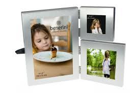3 photo silver colour aluminium folding multi aperture picture frame gift present 086