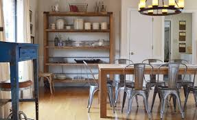 Wooden and metal chairs Reclaimed Wood Homedit Industrialize Your Dining Room With Metal Dining Chairs