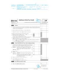 Form 8812 Gu Additional Child Tax Credit 2004
