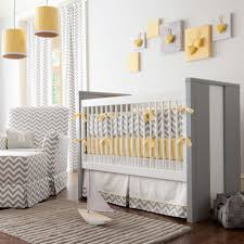 Photo 7 of 9 Beautiful Ideas Baby Nursery Bedding Sets Neutral Strip Motive  Incredible Designing Grey And Yellow Color (