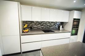 fitted kitchens designs. Grey Sparkle, Chicstone Worktops Fitted In Ellesmere Park, Eccles, Manchester Kitchens Designs