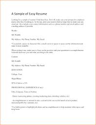 easy resume cover letter cipanewsletter cover letter easy sample resume easy sample resume easy sample