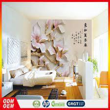 Peach White Flower Relief Wall Art ...