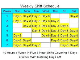 10 Hour Shift Schedule Templates 4 10 Hour Days Schedule Template